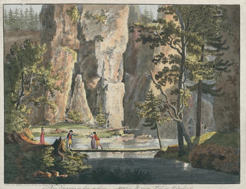Anton Balzer, Der Eingang in den grossen Wasser Fall in Adersbach, 1794
