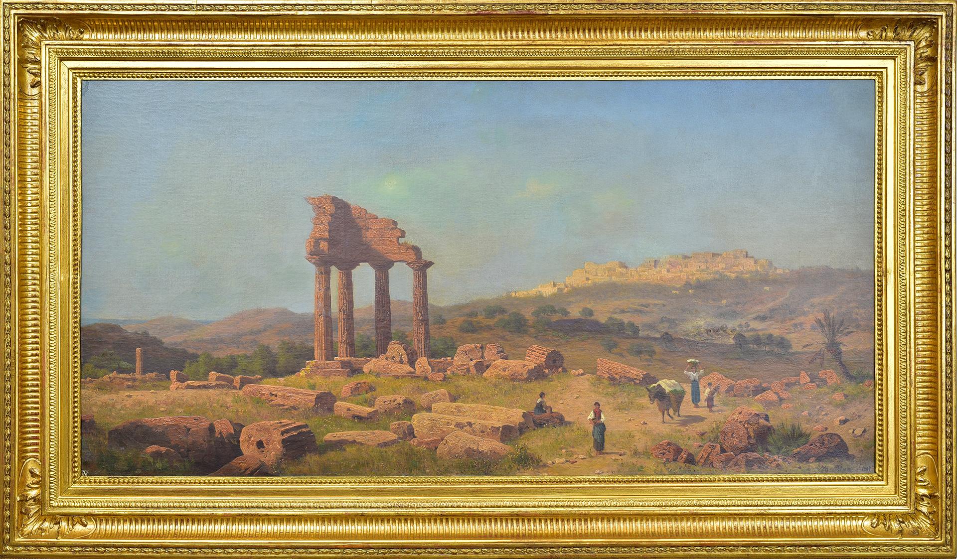 Údolí chrámů v Agrigentu | Haubtmann Michael (1843–1921)